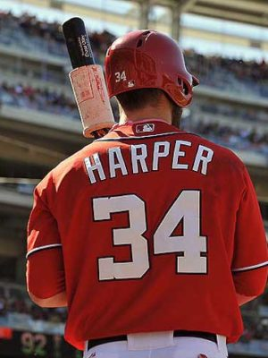 Bryce Harper on deck