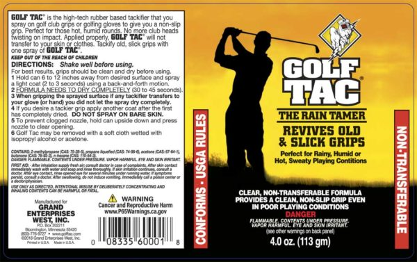 Golf Tac Label