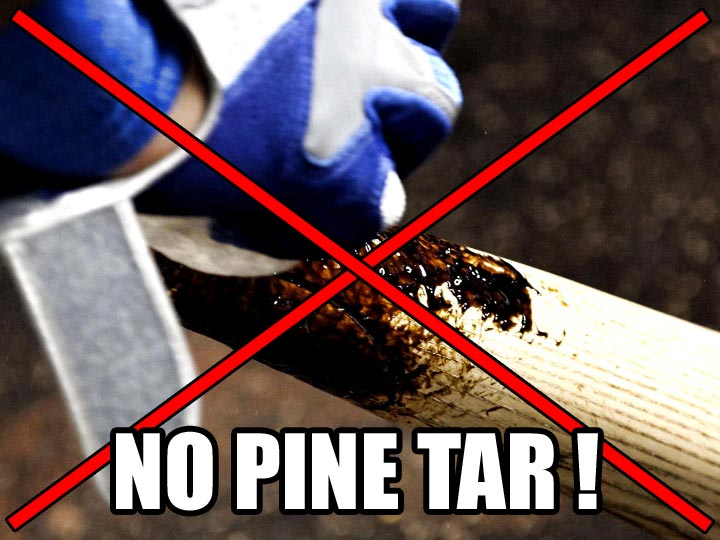 NO Pine Tar in Tacky Grip Spray
