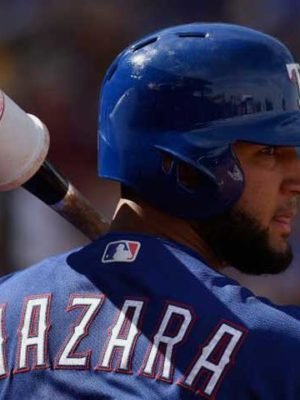 Nomar Mazara on deck