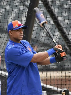 Yoenis Cespedes on deck